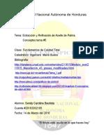 Extracción y Refinacion de Aceite de Palma