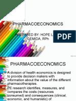 Pharmacoeconomics Lce