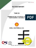 Tank 29 Inspection Report Shell - Guatemala