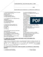 EXAMEN BIMESTRAL DE HISTORIA DEL PERÚ  3° BERAUN IIBIM