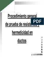 Procedimiento General de Prueba de Ductos