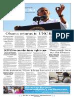The Daily Tar Heel for Nov. 3, 2016