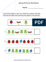 Spring Patterns Worksheet