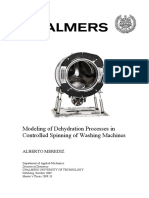Modeling of Dehydration Processes in Controlled Spinning of Washing Machines