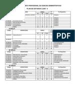 Plan de Estudios 2009 Administracion