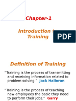 Chapter 1 Introduction to Training