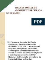 Programa Sectorial de Medio Ambiente y Recursos Naturales