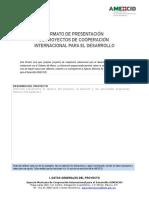 AMEXCID Formato Presentac ProyectoESP