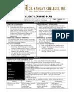 English 7 Learning Plan