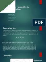 Área Efectiva y Ecuación de Transmisión de Friss