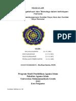 98940489-Makalah-Peranan-Ilmu-Pengetahuan-Dan-Teknologi-Dalam-Kehidupan-Manusia-Dampak-Thd-Pendayagunaan-SDA-amp-SDM.docx