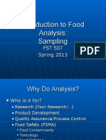 Lecture 1 Introduction to Food Analysis