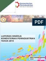 Lakip Kementerian Perindustrian Tahun 2015