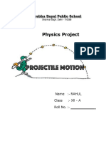 Project on Projectile Motion