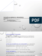 División Algebraica (Monomios)