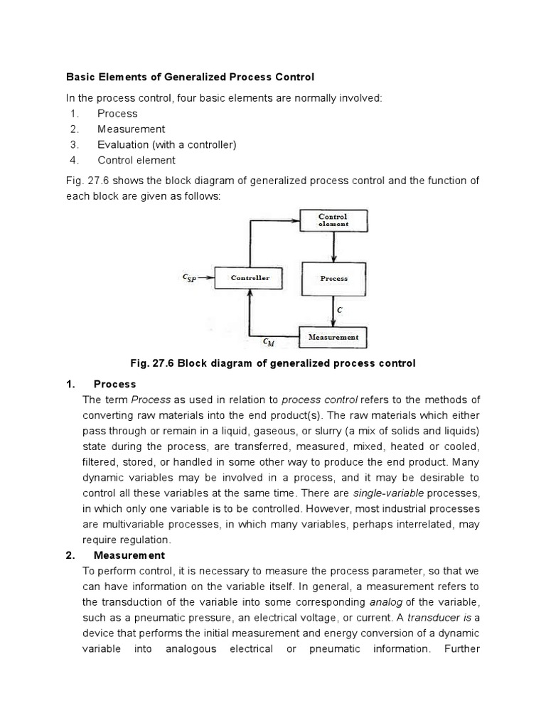 Basic elements of generalized process control control system basic elements of generalized process control control system signal electrical engineering pooptronica Images