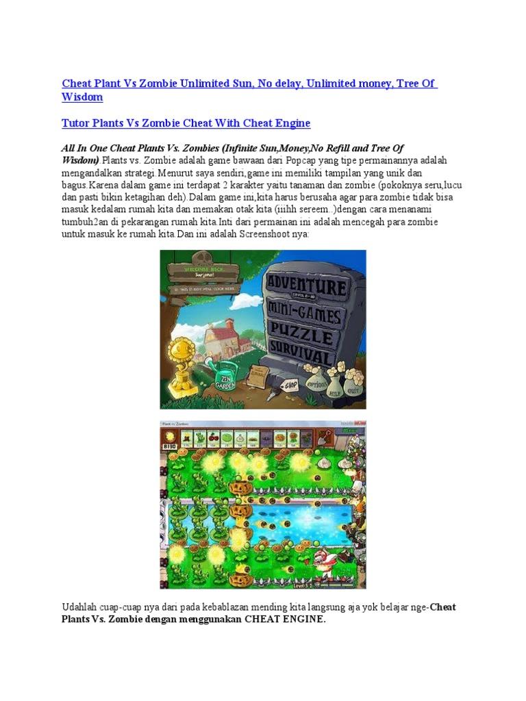 Plants Vs Zombie Cheat Engine Money Plants vs Zombies Money