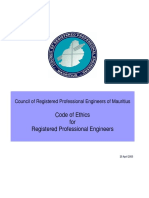 1-Code of Ethics for Registered Professional Engineers