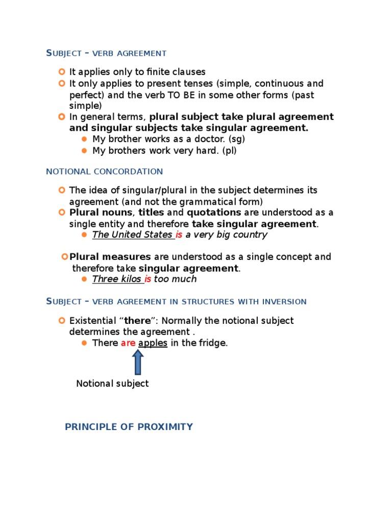 Subject vb agrement referat lec grammatical number subject grammar platinumwayz