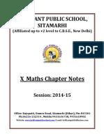 Doc 103 B.P.S. X Maths Chapter Notes 2014 15