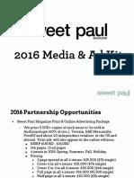 Sweet Paul 2016 Ad Kit