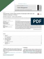 Characteristics Waste Management