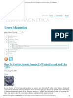 How to Convert Atomic Percent to Weight Percent and Vice Versa_Terra Magnetica