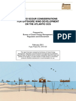 SEABED SCOUR CONSIDERATIONS  FOR OFFSHORE WIND DEVELOPMENT  ON THE ATLANTIC OCS
