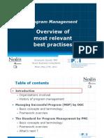 2. Program Management - Best Practices