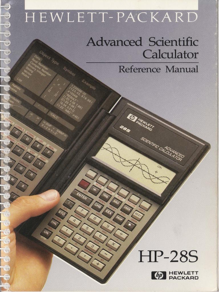 Hp28s Reference Manual Equations Parameter Computer Programming