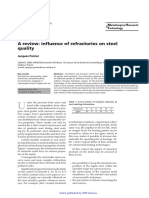 A review influence of refractories on steel quality.pdf