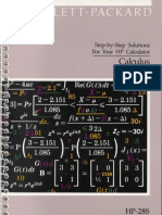 HP28S CALCULUS SOLUTION MANUAL