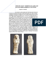 A Shabti of Tjehebu the Great -- Tjainhebu (TAy-n-Hbw) and Related Names From Middle Kingdom to Late Period