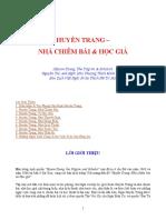 Huyền Trang - nhà chiêm bái và học giả