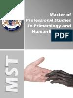 Primatology Human Ethology Mst