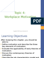 Topic 4 - Workplace Motivation