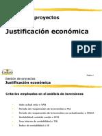1. Justificación Económica de Los Proyectos