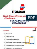 16 - Work Place Stress