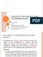 Presentation on Legality of Object and Consideration