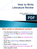Research Methodology-3 Writing Literature