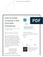 How to Access Computer's Hard Drive With Smartphone
