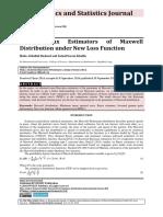 Semi-Minimax Estimators of Maxwell Distribution under New Loss Function