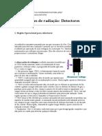 Medições de Radiação Detectores