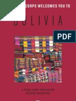 Peace Corps Bolivia Welcome Book     January 2007