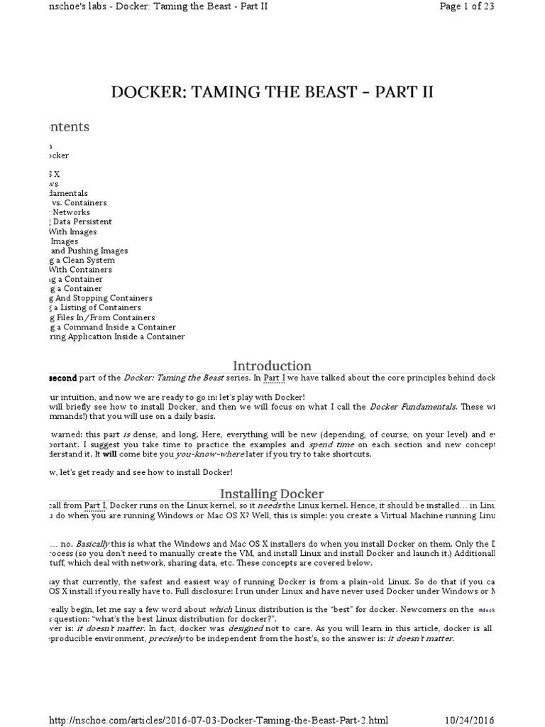 Docker - Taming the Beast - 2 | Network Socket | Linux