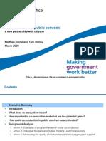 Co-producción en los Servicios Públicos. Un nuevo acuerdo con los ciudadanos