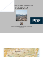 Peace Corps Bulgaria Welcome Book     December 2009