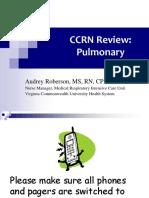 CCRN Pulmonary