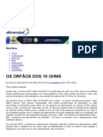 OS ORFÃOS DOS 10 OHMS - AbracopelAbracopel