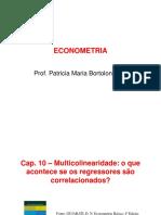 Econometria_Capitulos 10 - Multicolinearidade